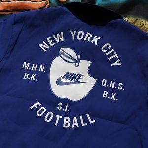 NWT Nike New York City Football Jacket XL retro logo big apple queens bk bronx